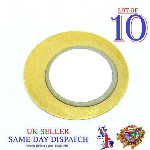 10x hágalo usted mismo 20 mm Cobre Pasivo disco piezoeléctrico Zumbador Sensor Tambor Sounder Gatillo