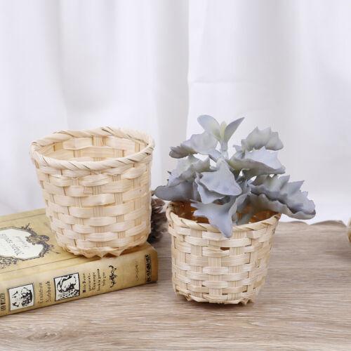 Rattan Plant Box Wicker Basket Nursery Pots Sea Grass Storage Basket Flower PHC