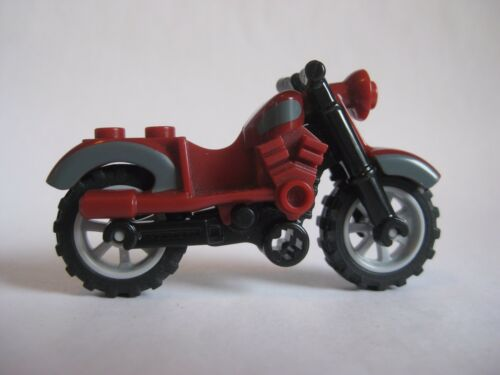 Dark Red Indiana Jones Lego MOTORCYCLE Dirt Bike for Minifigures to Ride