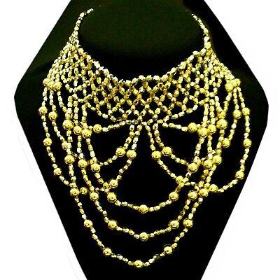 La Danza Del Ventre Belly Dance Collana Collare Gioielli Necklace Carnevale Carnevale-mostra Il Titolo Originale