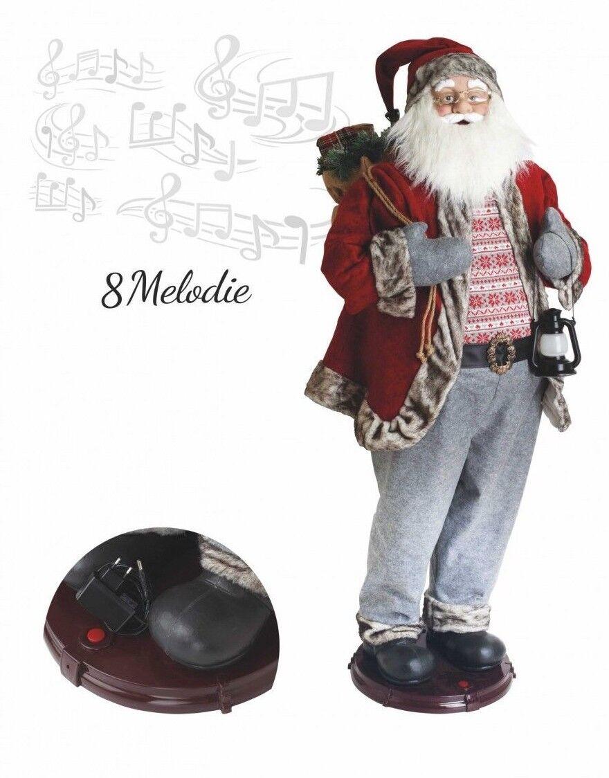 Babbo Natale Musicale Dance Canta Balla Musica 8 melodie grande 152 cm pupazzo