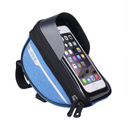 Universal Cycling Bag Top Front Tube Bag Double Pouch Bike Bag Cell Phone Holder