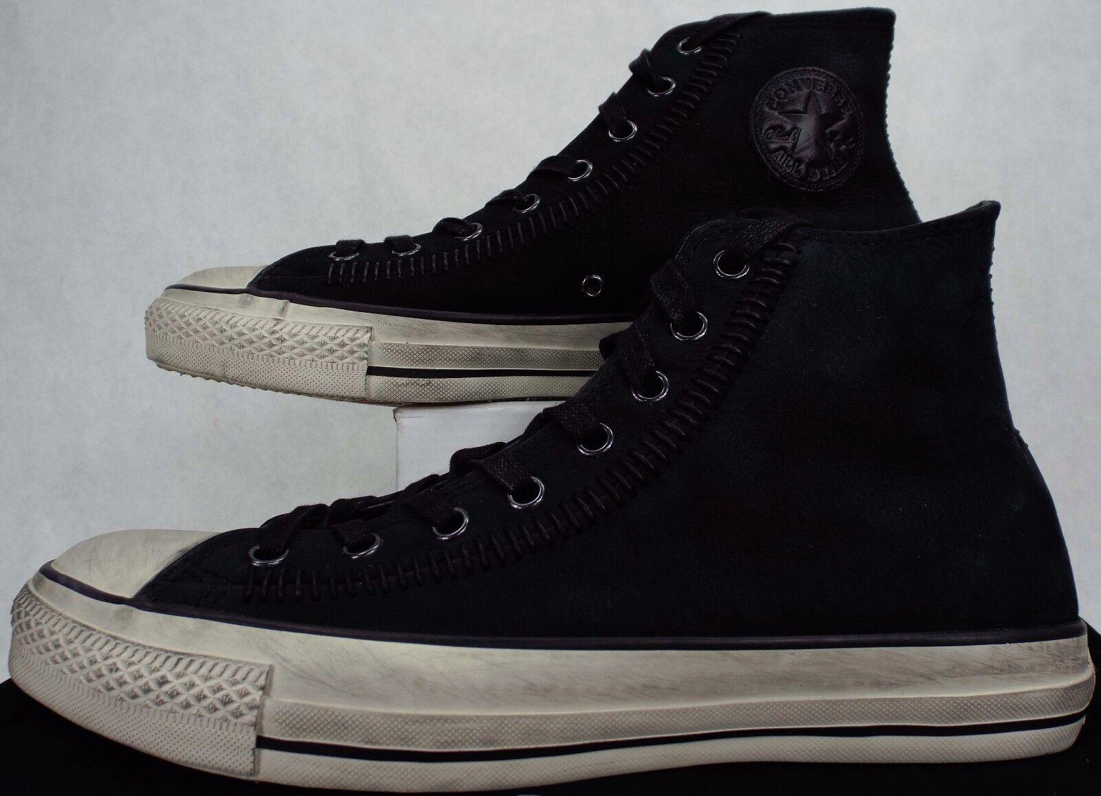 New Mens 9.5 CONVERSE John Varvatos CT HI Black Leather Shoes 180 150209C