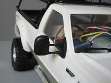Pair Black Rubber Flexible Side Mirror Tamiya RC 1/10 Juggernaut 1 2 Ford F350