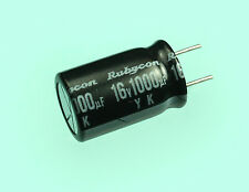 12pc Rubycon YK 1000uF 16v Radial Electrolytic Capacitor 1000mfd