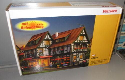 progettazione di interni e LED-Luce /_ NUOVO VOLLMER h0 43683 pasticceria con gelataio