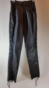 Pants pantaloni side 8 Waist lacci Sz piatto pelle Cotton Wood Leather 26 Flat 8 in alta 26 Laces High vita Creek frontale Front laterali aIRA1