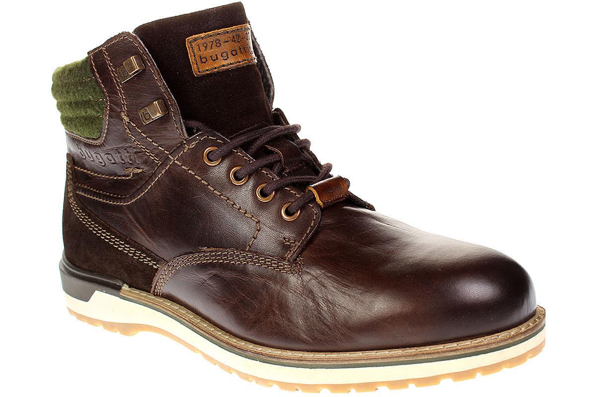 Bugatti sino 321-35630-1200 CABALLERO zapatos botas schnürzapatos - 6100 darkmarrón