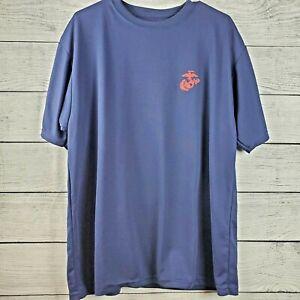 Marines-Dark-Blue-Short-Sleeve-T-Shirt-USMC-Mens-Size-XL-Logo-EUC