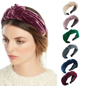 Ladies Knot Headband Hairband Fabric Tie Wide  Alice Hair Band Accessories