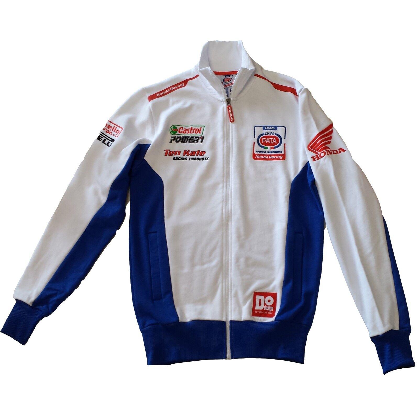 Neu Offiziell Pata Honda Team weiß Vlies mit Reißverschluss