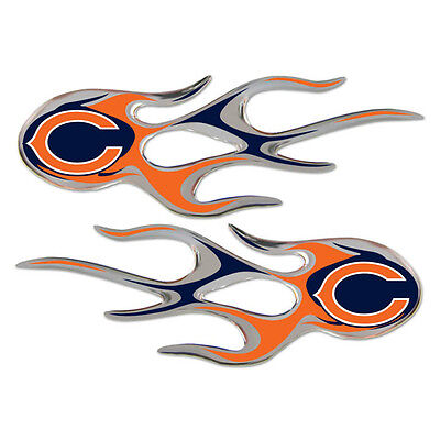 Chicago Bears Auto Flame Decals 2 Pk [NEW] NFL Car Sticker Graphic Emblem CDG