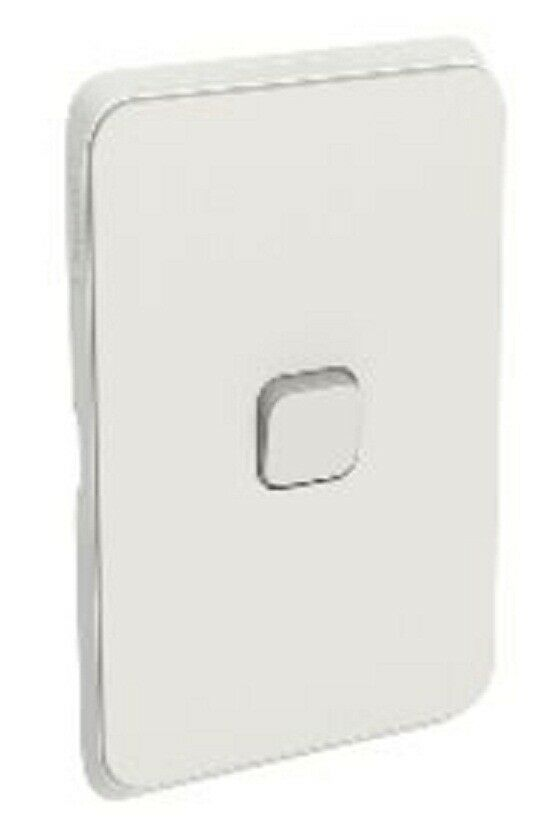 2x Clipsal ICONIC SWITCH COVER PLATES 1-Gang Horizontal greenical WARM GREY
