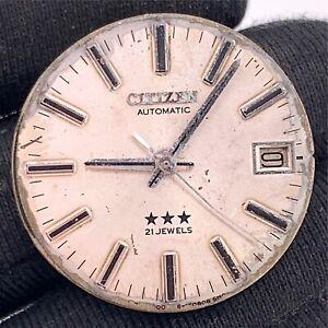 Citizen-Cal-6001-Automatique-Vintage-26-mm-Date-Pas-Fonctionne-pour-Pieces