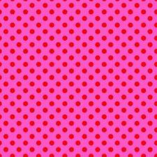 SALE All Stars Pom Poms Petunia Cotton Print Fabric