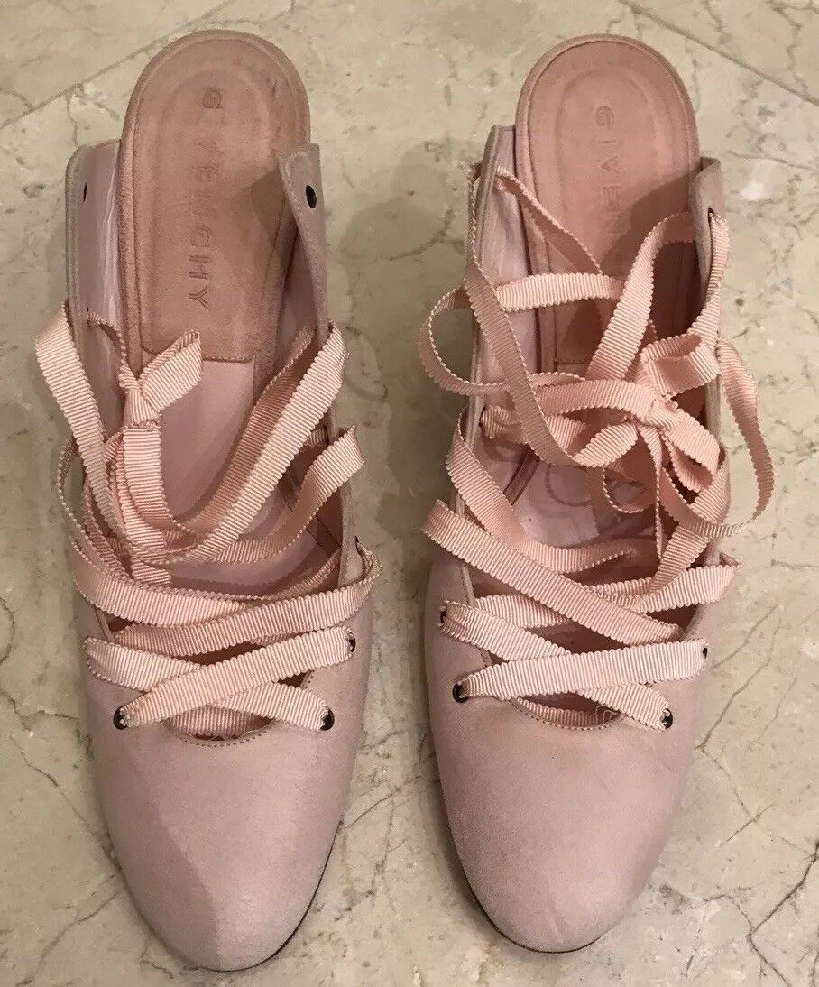 Givenchy Pink ballerinas Suede ribbon heels With ribbon Suede Straps f18a62