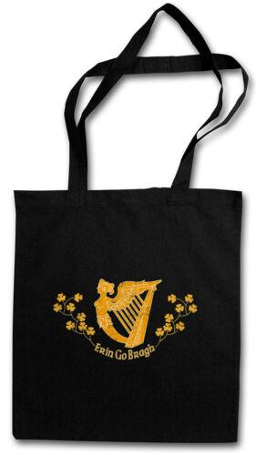 ERIN GO BRAGH EINKAUFSTASCHE Braugh irinn go brach irisch Irland Flagge Harfe