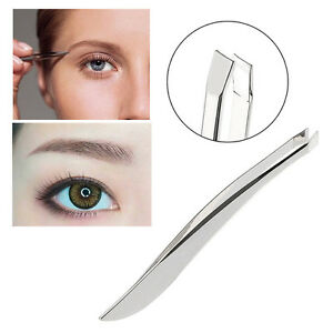 2Pcs-Slant-Beauty-Hair-Removal-Stainless-Steel-Makeup-Eyebrow-Tweezer-Set