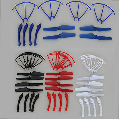 4 Sets Landing Skids Propellers Protective Cover Spare Parts for Syma X5SW X5SC