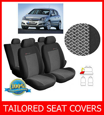Car seat covers fit Opel Astra H full set black grey