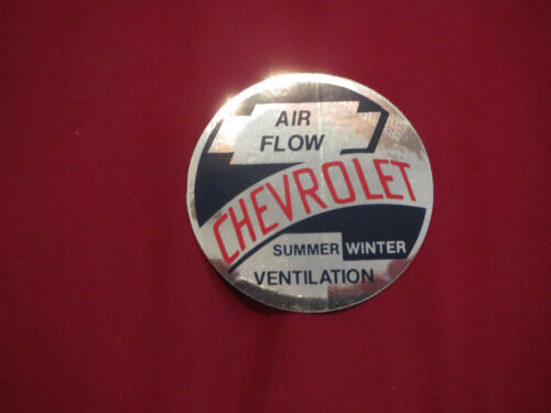 AIR FLOW HEATER VENTILATION DECAL STICKER N ALL MODELS 1953 1954 CHEVROLET CAR
