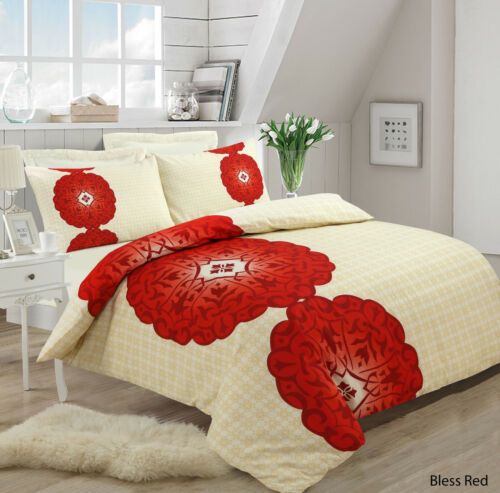 NEW Duvet Cover with Pillow Case Quilt Cover Bedding Set All Single Double //King