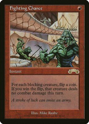 Fighting Chance Exodus NM Red Rare MAGIC THE GATHERING MTG CARD ABUGames