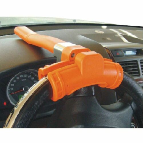 NEW  FLOURESCENT STEERING LOCK SHAPED ANTI THEFT CAR WHEEL CAR SECURITY BASEBALL