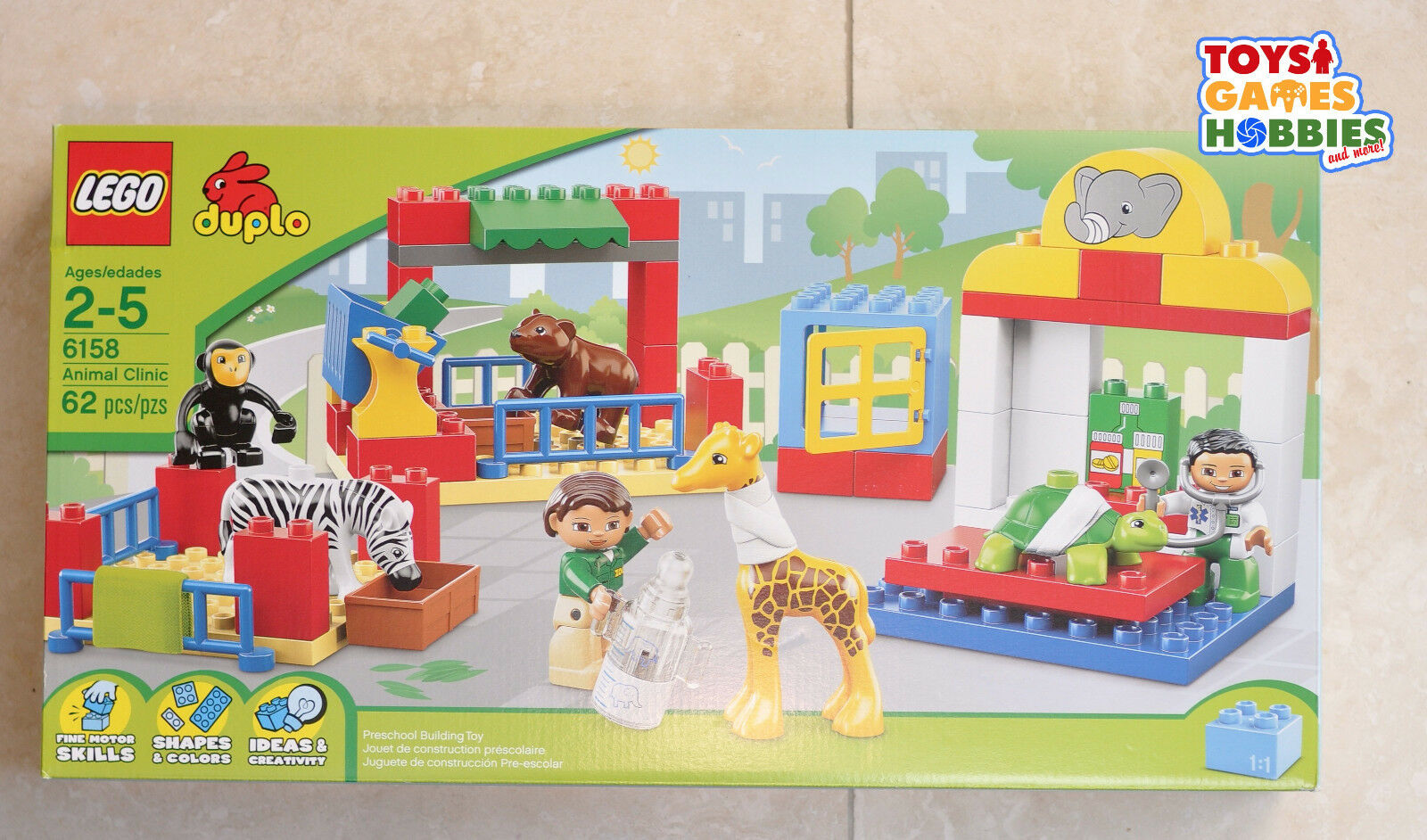 NEW LEGO Duplo Animal Clinic Set 6158 Veterinarian Hospital Ambulance Zoo Pet