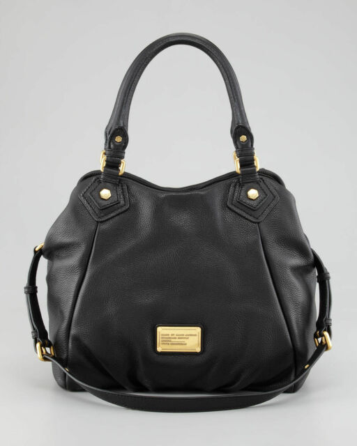8347449db44b New MARC by MARC JACOBS Classic Q Fran Leather Hobo Shoulder Bag Tote BLACK   480