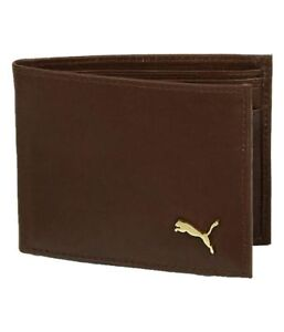 BRAND-NEW-AUTHENTIC-PUMA-BROWN-BI-FOLD-LEATHER-MEN-039-S-WALLET