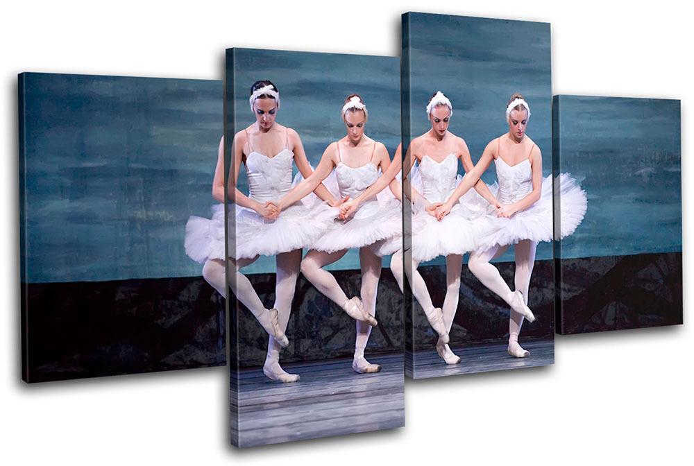 Ballet Dancers Performing MULTI TELA parete arte foto stampa stampa stampa f15162
