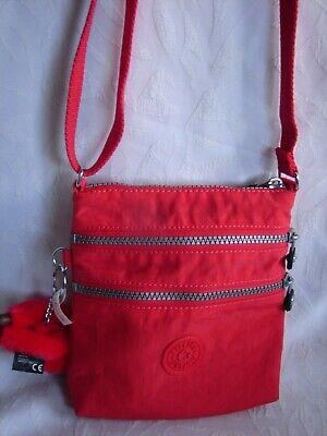 Kipling Alvar Extra Small Mini Bag Red Nylon Cross body Purse Bag | eBay