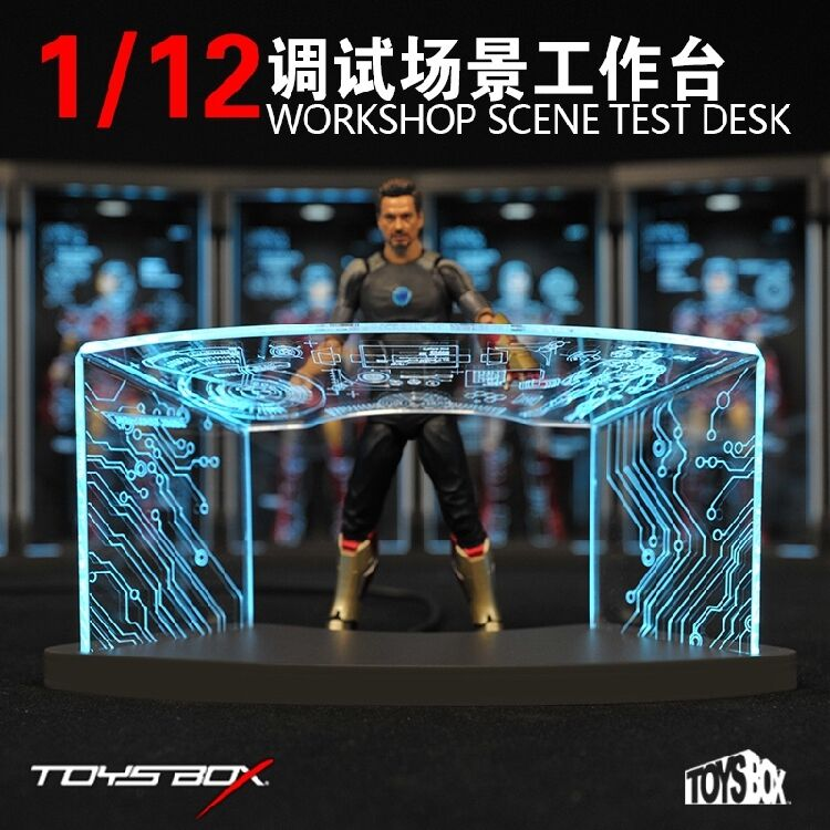 6in. TOYSBOX 1 12 Work Shop Test Desk Comicave SHF Iron Man Accessory TB055