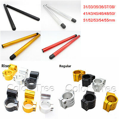 "7/8"" 31mm-55mm Replacement Clip-ons Clip ons Handlebars Regular Riser CNC"
