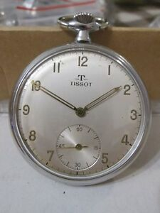277354ba264 Image is loading RARE-VINTAGE-TISSOT-pocket-WATCH-15-jewels-SWISS-
