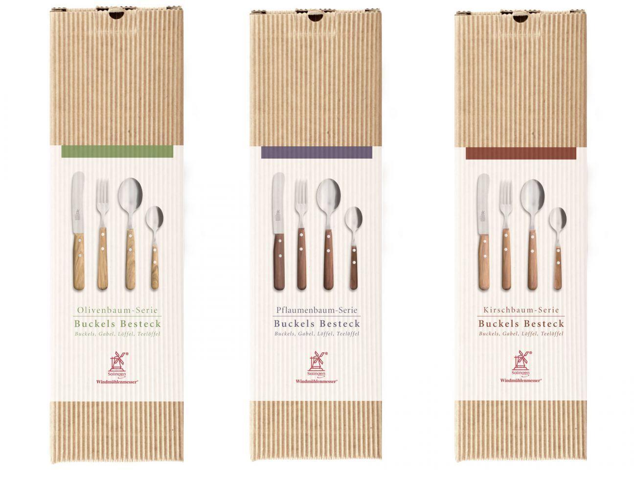 Les moulins à vent couteau Bosse Table Couverts Set cerise prune Olive Robert Herder
