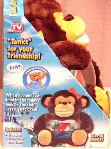 Teddy Tank Betta Fish Bowl Penguin//Dog//Monkey//Unicorn Aquarium As Seen On TV