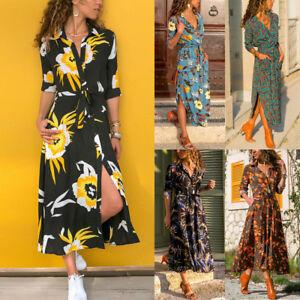 Women-039-s-Casual-Boho-Long-Maxi-Dress-Cocktail-Party-Beach-Dresses-Slit-Sundress