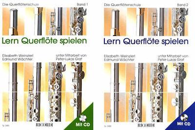 Bleistift Musikmotiv Lern Querflöte spielen Die Querflötenschule Band1 mit CD