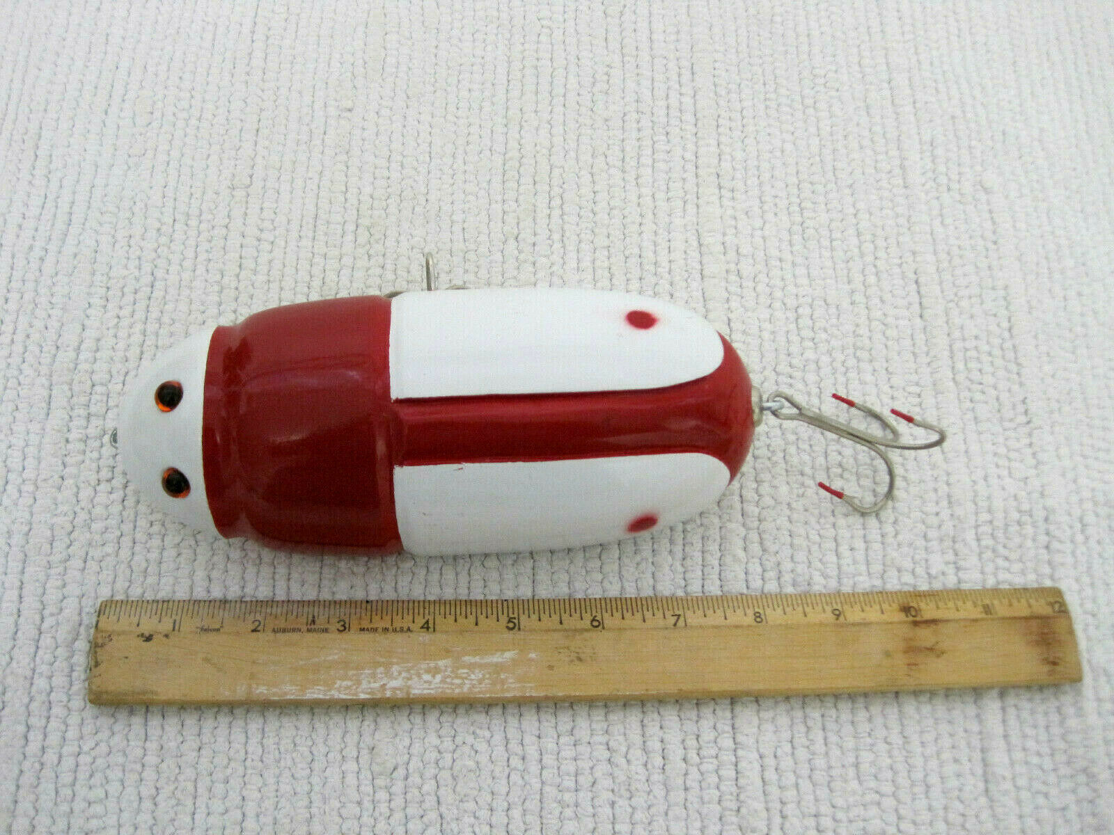 Mike Kiefert Novelure Large Ladybug Like Handmade Wood Folk Art 8  Fishing Lure