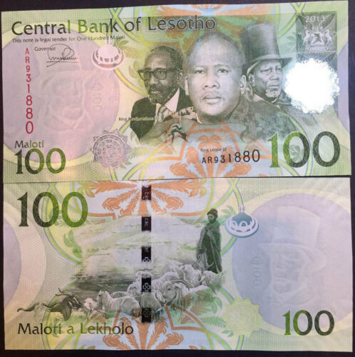LESOTHO 100 MALOTI 2013 2016 P NEW SIGN UNC