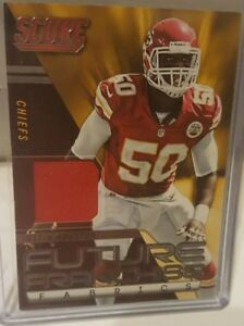 detailed look d23ee 5776b Details about 2014 Score Future Franchise Fabrics #FFFJH Justin Houston  Jersey - NM-MT