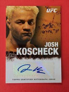 Ufc-Topps-2010-Autograph-Josh-Koscheck-Auto