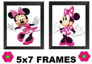 Details about 💗 Minnie Mouse Pictures 5x7 Pink Girls Bedroom Wall Hangings  Home Decor