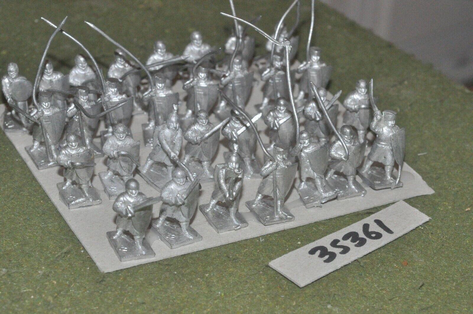 25mm medieval   generic - spearmen spearmen spearmen 32 figures - inf (35361) 6b2917