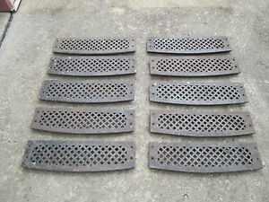 Image Is Loading 10 Vintage Cast Iron Architectural Stair Treads Steps