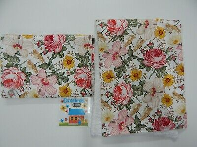 Floral Burp Cloths Soft Floral Eloise 2 Pack Toweling Backed GREAT GIFT