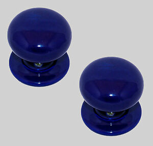 China/Porcelain Mortice Door Knob Aga Blue 60mm (pair)
