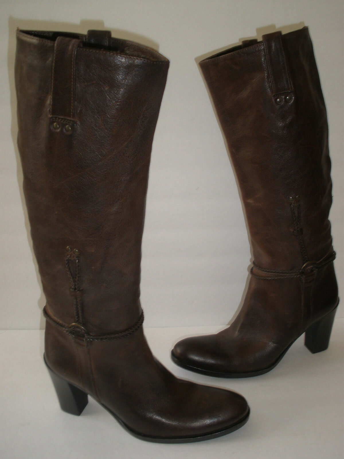 STEVE MADDEN LEATHER KNEE HI BOOT size US 5.5 HOT SEXY MADE IN ITALY 249